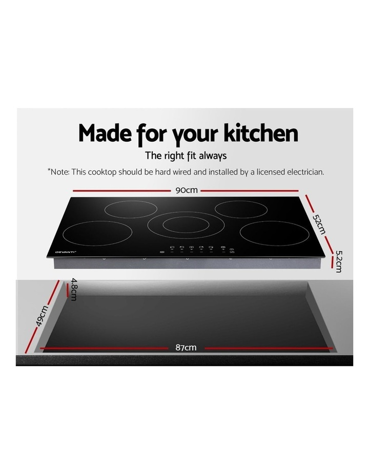 90cm Ceramic Cooktop Electric Cook Top 5 Burner Stove Hob Touch Control 6-Zones image 2