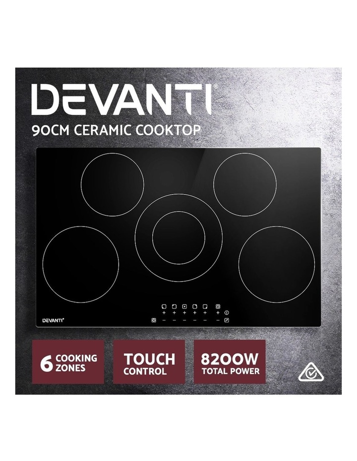 90cm Ceramic Cooktop Electric Cook Top 5 Burner Stove Hob Touch Control 6-Zones image 3