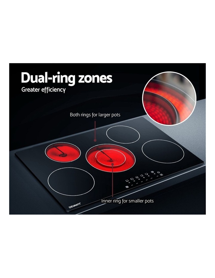 90cm Ceramic Cooktop Electric Cook Top 5 Burner Stove Hob Touch Control 6-Zones image 4