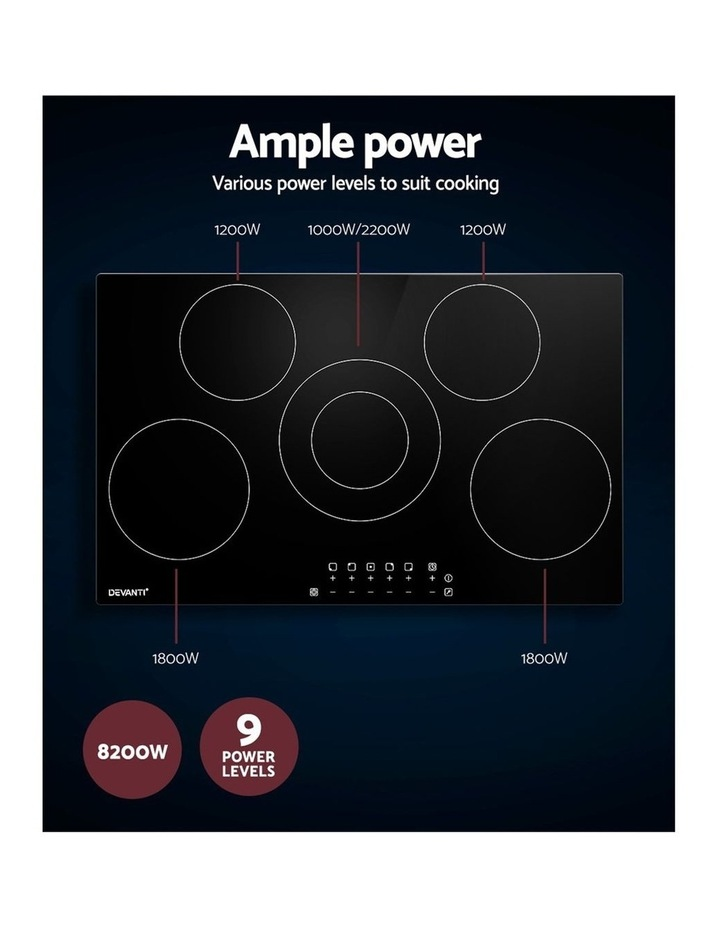90cm Ceramic Cooktop Electric Cook Top 5 Burner Stove Hob Touch Control 6-Zones image 5