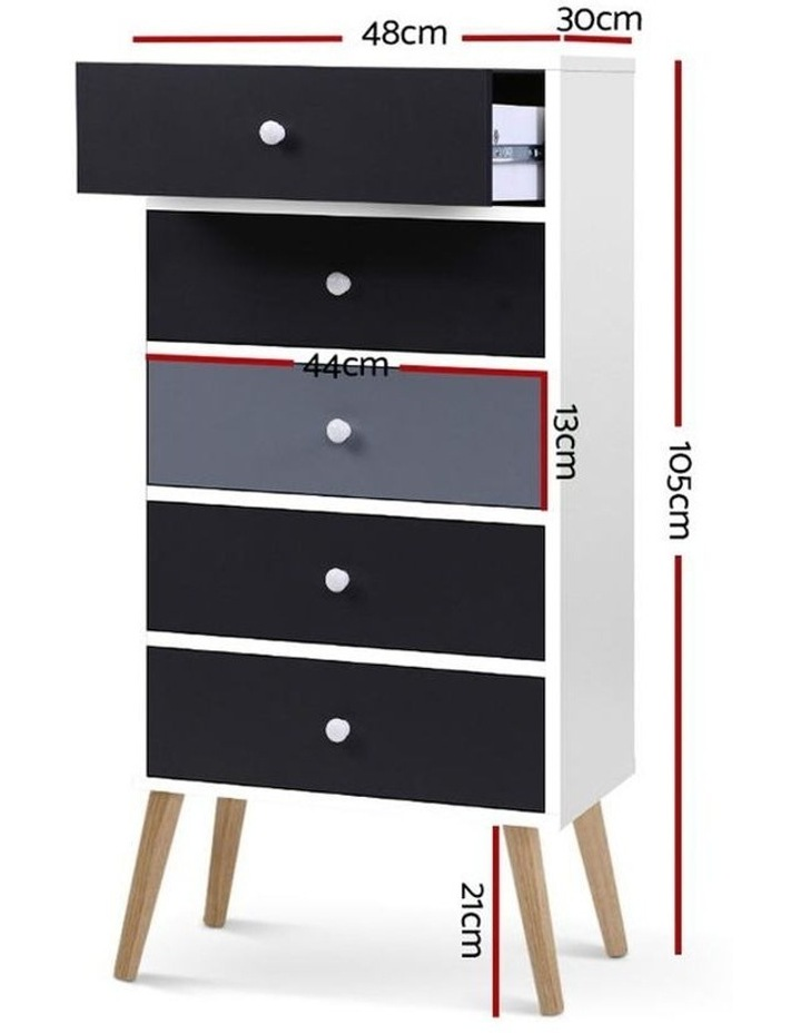 Artiss 5 Chest of Drawers Dresser Table image 2