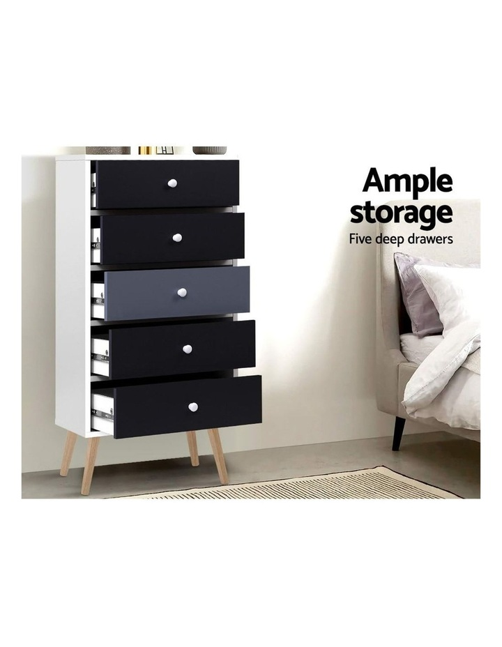Artiss 5 Chest of Drawers Dresser Table image 3
