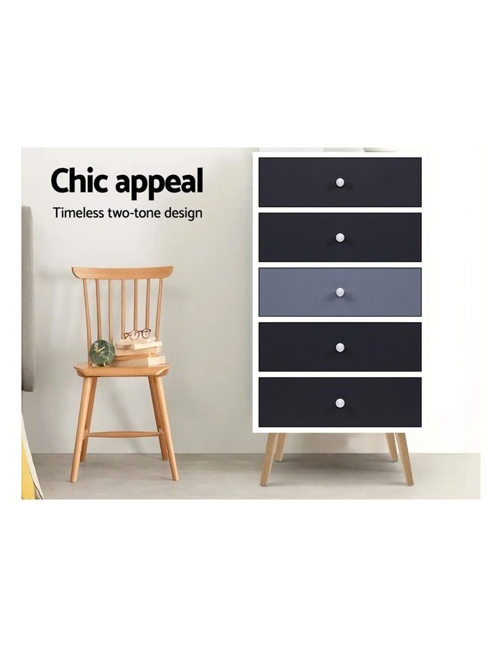 Artiss 5 Chest of Drawers Dresser Table image 4