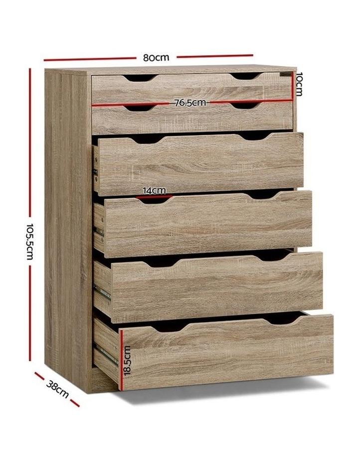 6 Chest of Drawers Tallboy Dresser Table Storage Cabinet Oak Bedroom image 2