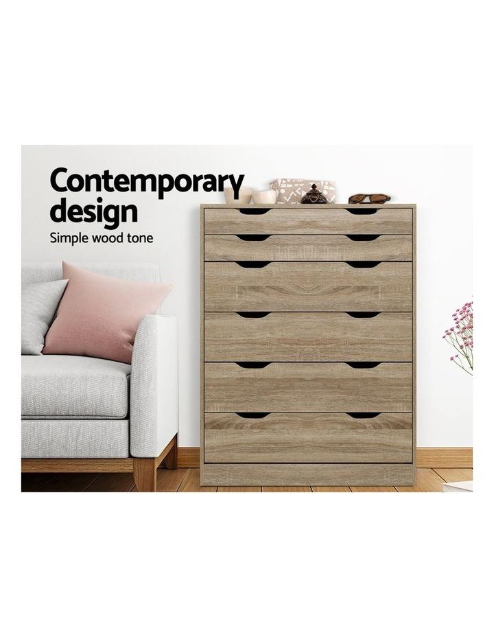 6 Chest of Drawers Tallboy Dresser Table Storage Cabinet Oak Bedroom image 3