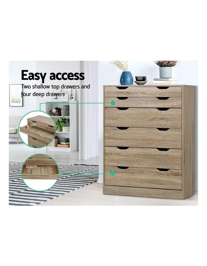 6 Chest of Drawers Tallboy Dresser Table Storage Cabinet Oak Bedroom image 4
