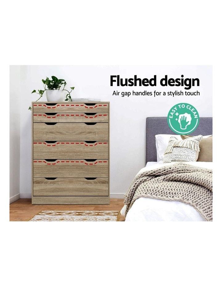 6 Chest of Drawers Tallboy Dresser Table Storage Cabinet Oak Bedroom image 6
