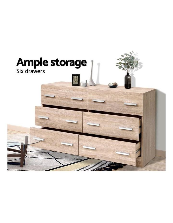 6 Chest of Drawers Cabinet Dresser Table Tallboy Lowboy Storage Wood image 3