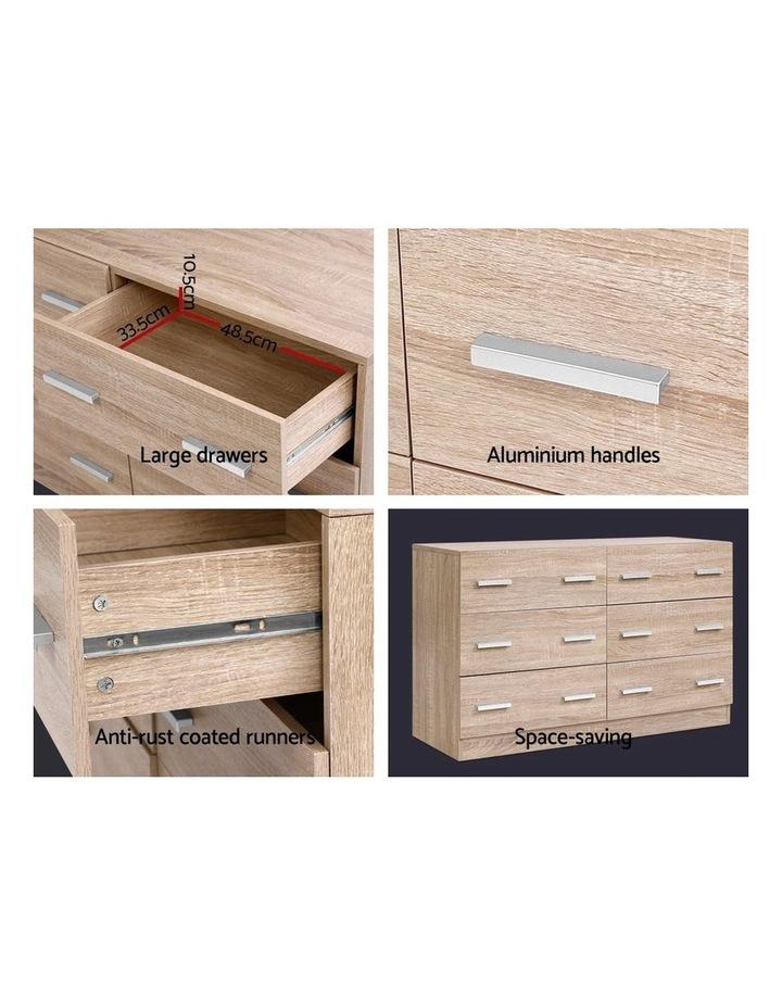 6 Chest of Drawers Cabinet Dresser Table Tallboy Lowboy Storage Wood image 5