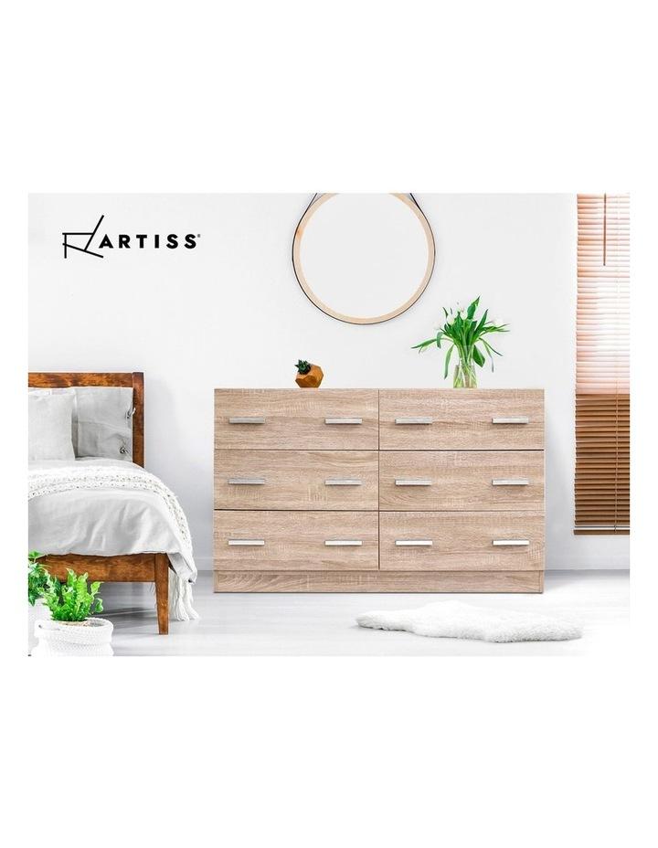 6 Chest of Drawers Cabinet Dresser Table Tallboy Lowboy Storage Wood image 6