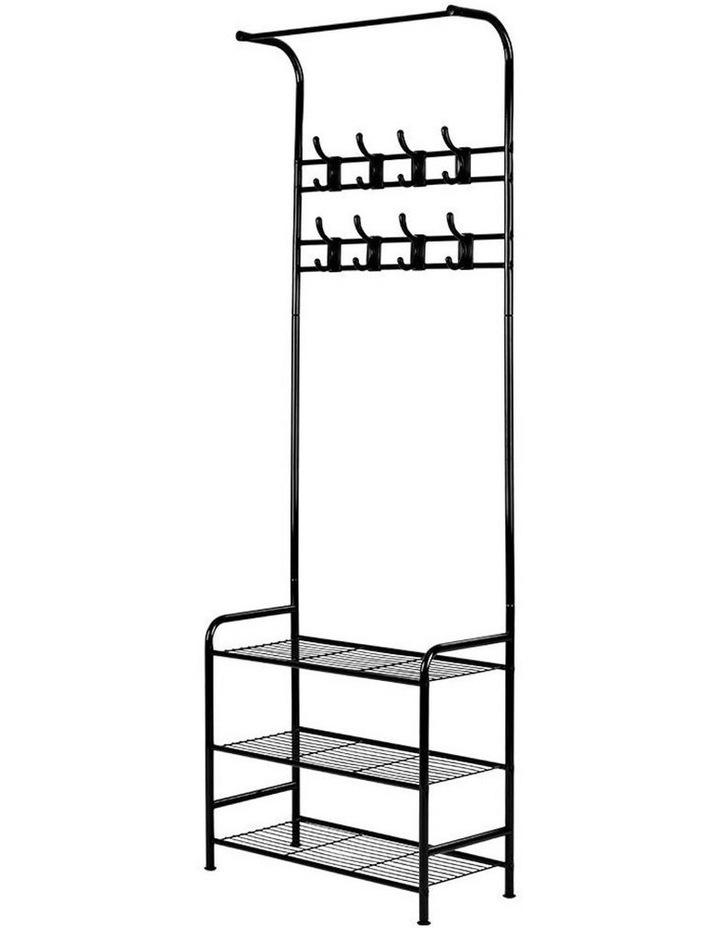 Clothes Rack Coat Stand Garment Portable Hanger Airer Organiser Shoe Storage Metal Black image 1