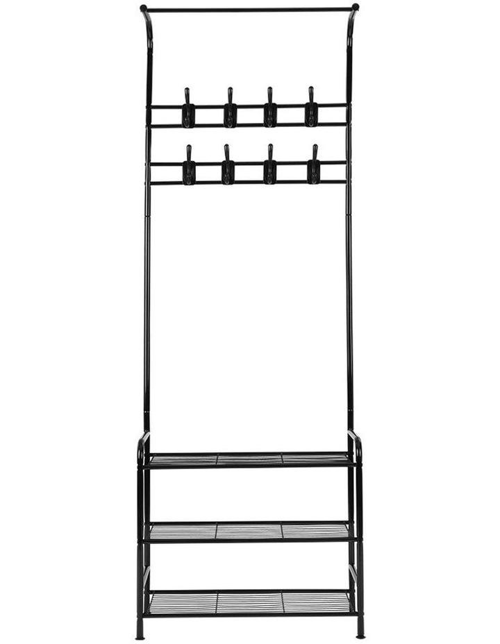 Clothes Rack Coat Stand Garment Portable Hanger Airer Organiser Shoe Storage Metal Black image 3