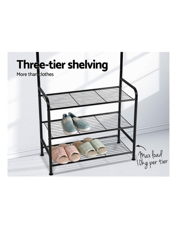 Clothes Rack Coat Stand Garment Portable Hanger Airer Organiser Shoe Storage Metal Black image 6