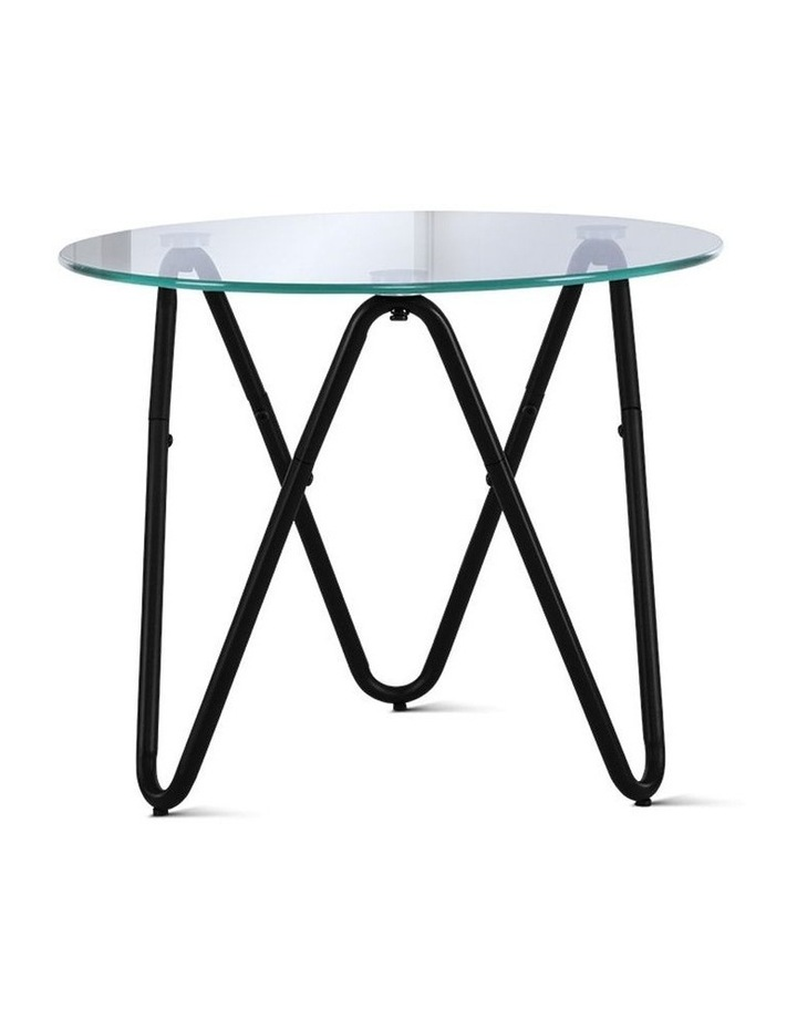 Coffee Table Glass End Side Tables High Gloss Display Modern Furniture 50X50CM image 1