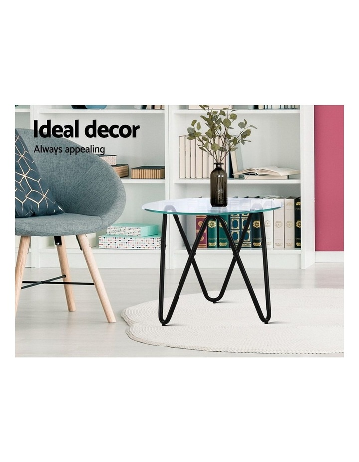 Coffee Table Glass End Side Tables High Gloss Display Modern Furniture 50X50CM image 4