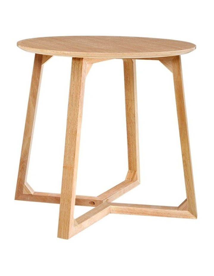 Coffee Table Round Side Tables Nightstand Bedside Furniture Wooden Beige image 1