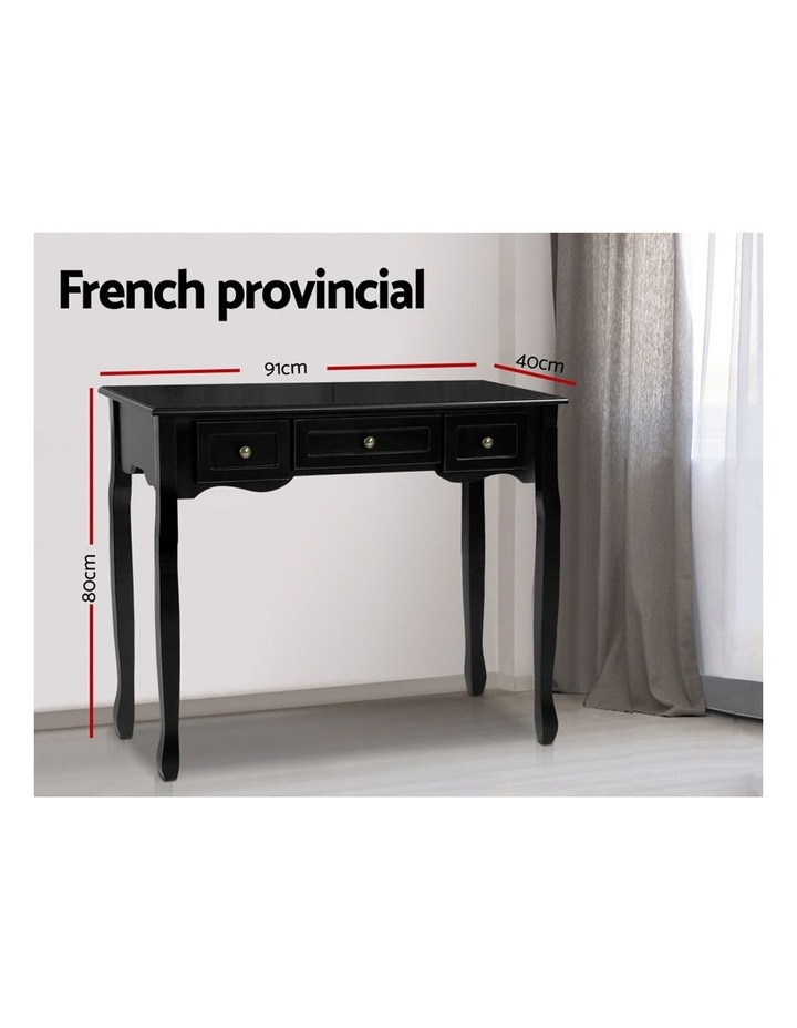Hallway Console Table Hall Side Dressing Entry Display 3 Drawers Black image 2
