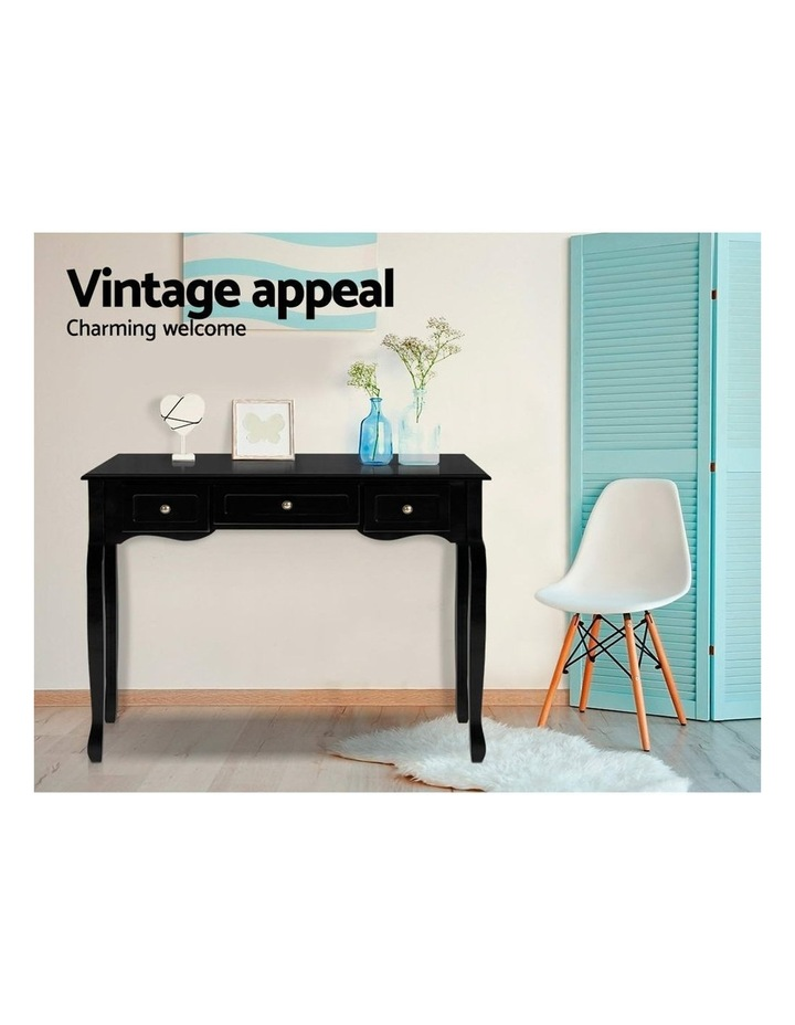 Hallway Console Table Hall Side Dressing Entry Display 3 Drawers Black image 3