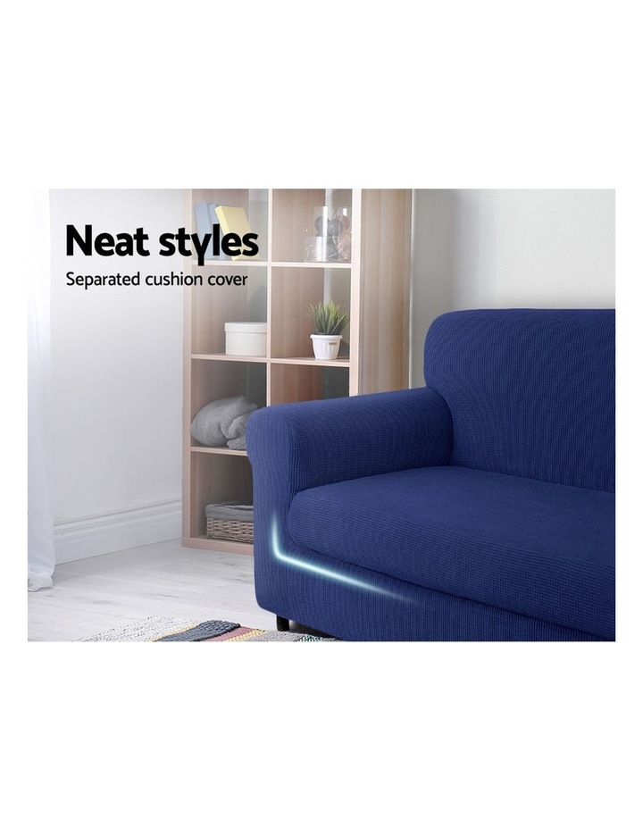 2-piece Sofa Cover Elastic Stretch Couch Covers Protector 1 Steater Navy image 3
