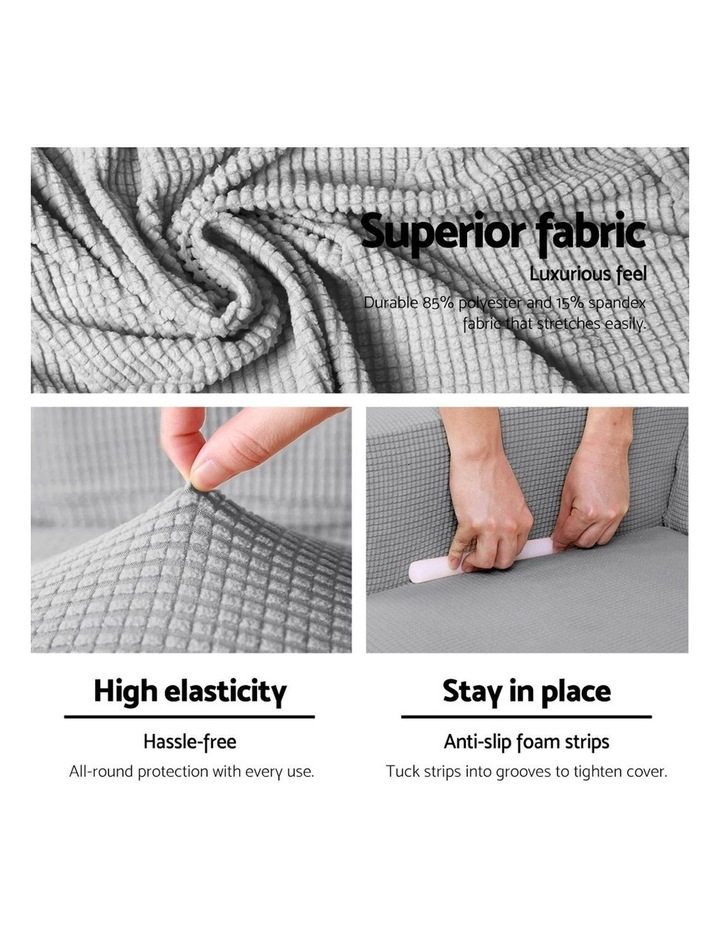 2-piece Sofa Cover Elastic Stretch Couch Covers Protector 2 Steater Grey image 4