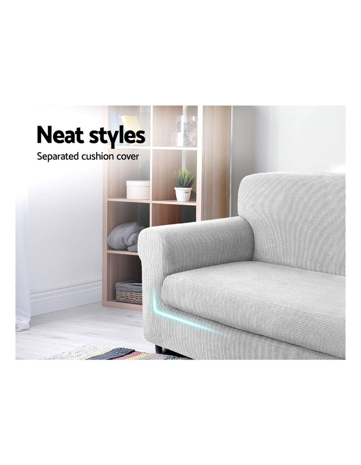 2-piece Sofa Cover Elastic Stretch Couch Covers Protector 3 Steater Grey image 3