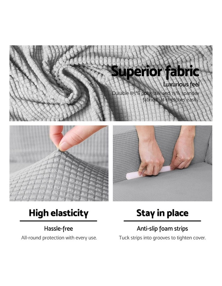 2-piece Sofa Cover Elastic Stretch Couch Covers Protector 3 Steater Grey image 4