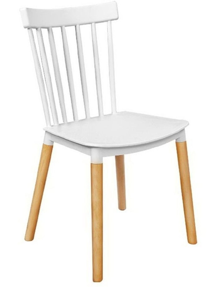 Dining Chairs Replica Kitchen Chair White Retro Rubber Wood Cafe Seat X4 image 1