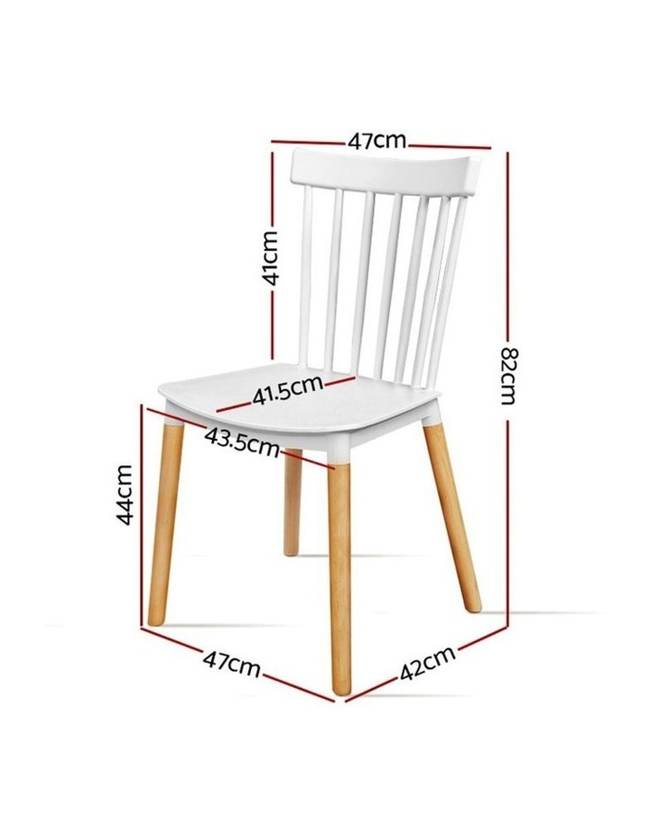 Dining Chairs Replica Kitchen Chair White Retro Rubber Wood Cafe Seat X4 image 2