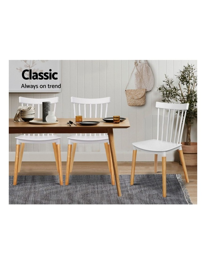 Dining Chairs Replica Kitchen Chair White Retro Rubber Wood Cafe Seat X4 image 3