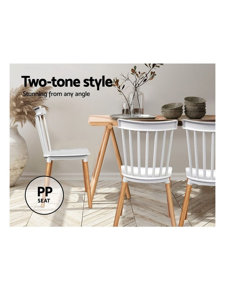 Dining Chairs Replica Kitchen Chair White Retro Rubber Wood Cafe Seat X4 image 4
