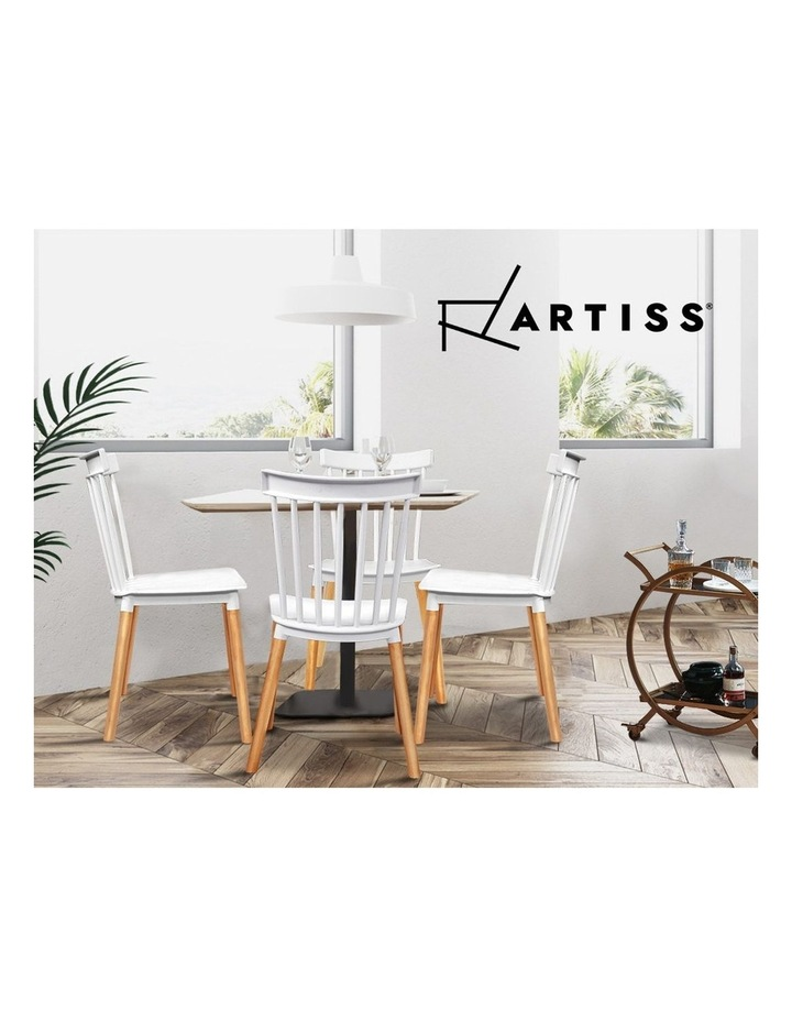 Dining Chairs Replica Kitchen Chair White Retro Rubber Wood Cafe Seat X4 image 5
