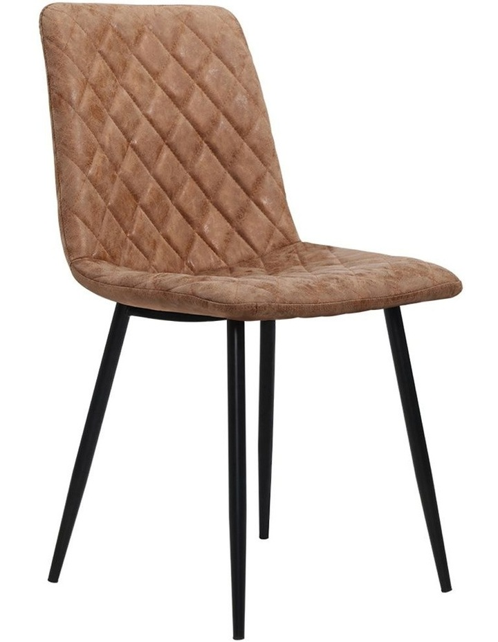Dining Chairs Replica Kitchen Chair PU Leather Padded Retro Iron Legs x2 image 1