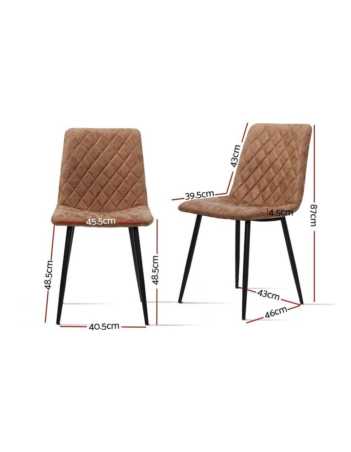 Dining Chairs Replica Kitchen Chair PU Leather Padded Retro Iron Legs x2 image 2