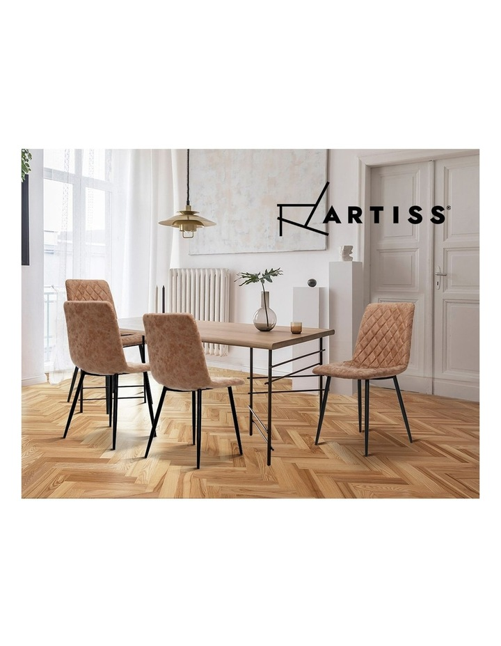 Dining Chairs Replica Kitchen Chair PU Leather Padded Retro Iron Legs x2 image 4
