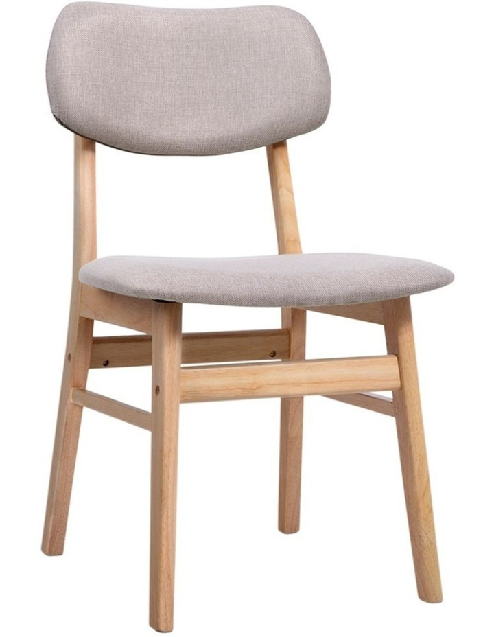 Dining Chairs Retro Replica Kitchen Cafe Wood Chair Fabric Pad Beige x2 image 1