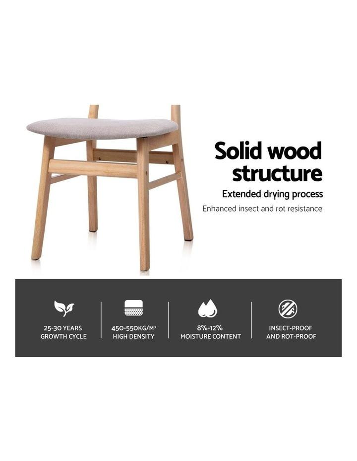 Dining Chairs Retro Replica Kitchen Cafe Wood Chair Fabric Pad Beige x2 image 3
