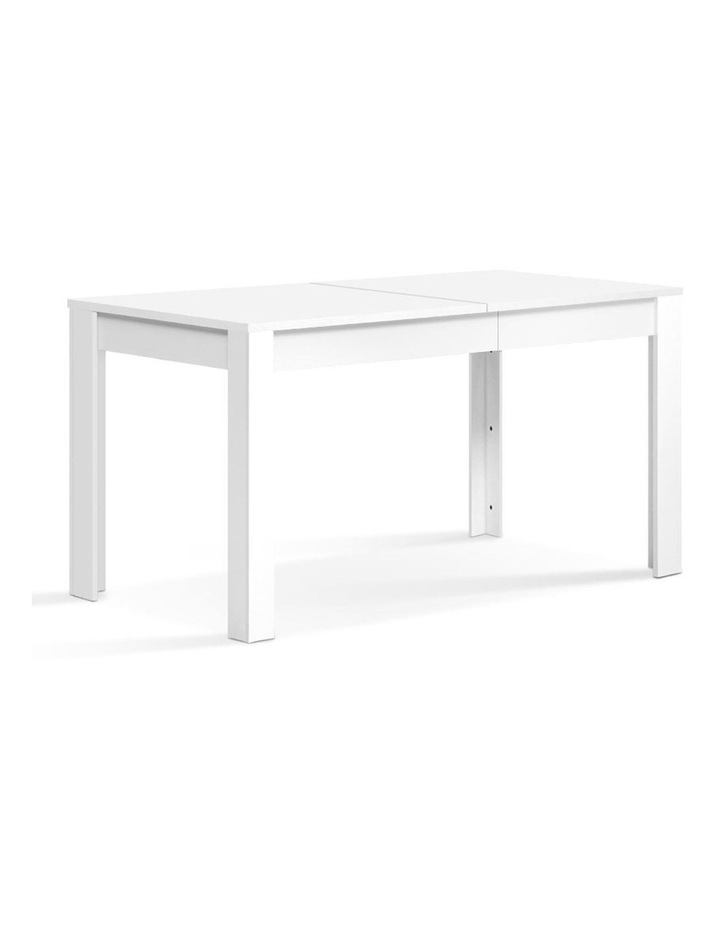 Dining Table 4 Seater Wooden Kitchen Tables White 120cm Cafe Restaurant image 1