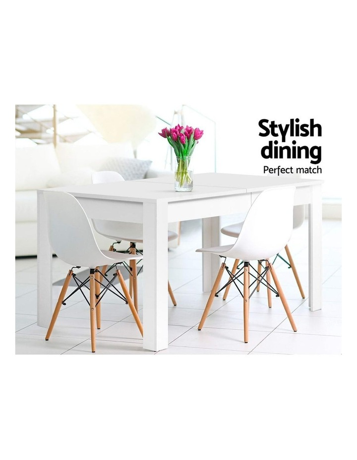 Dining Table 4 Seater Wooden Kitchen Tables White 120cm Cafe Restaurant image 3