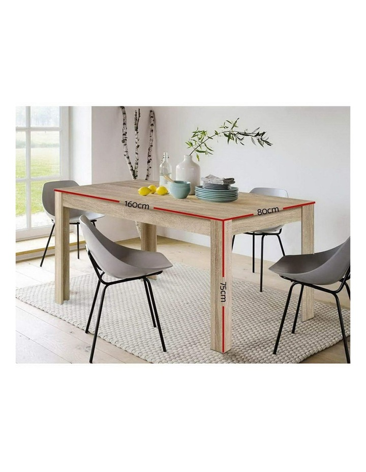 Dining Table 6 Seater Wooden Kitchen Tables Oak 160cm Cafe Restaurant image 2