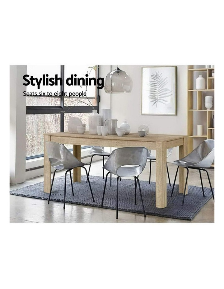 Dining Table 6 Seater Wooden Kitchen Tables Oak 160cm Cafe Restaurant image 3