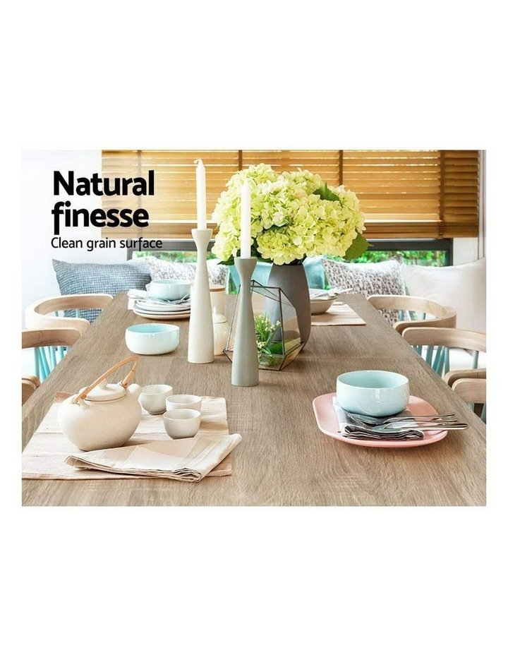 Dining Table 6 Seater Wooden Kitchen Tables Oak 160cm Cafe Restaurant image 4