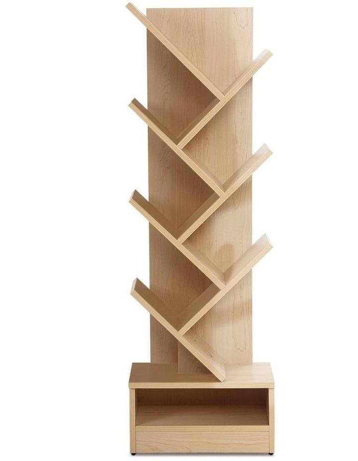 Display Shelf 7-Shelf Tree Bookshelf Book Storage Rack Bookcase Natural image 1