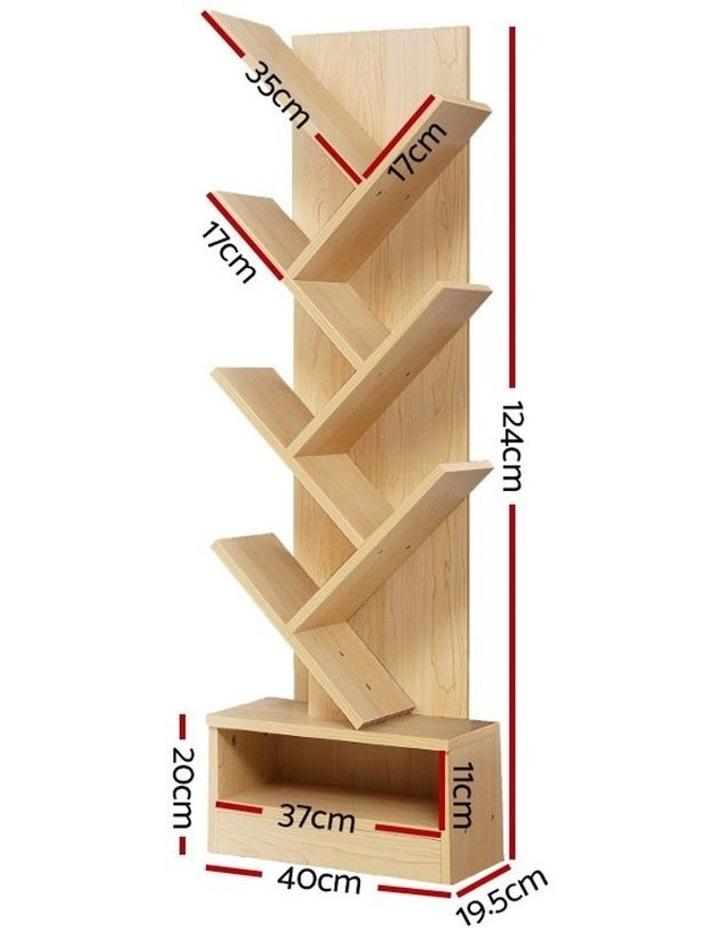 Display Shelf 7-Shelf Tree Bookshelf Book Storage Rack Bookcase Natural image 2