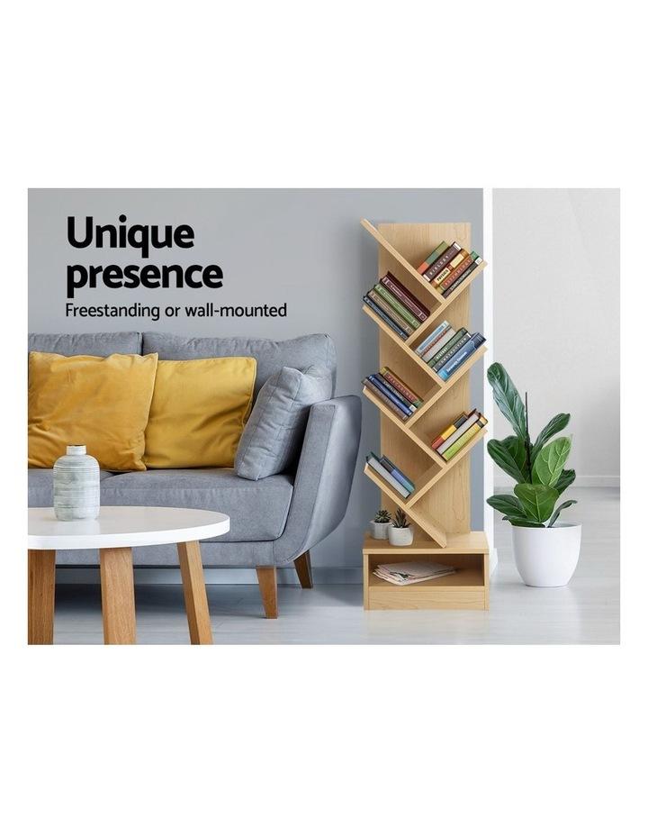 Display Shelf 7-Shelf Tree Bookshelf Book Storage Rack Bookcase Natural image 3