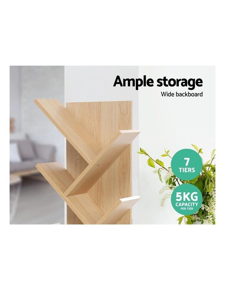 Display Shelf 7-Shelf Tree Bookshelf Book Storage Rack Bookcase Natural image 4