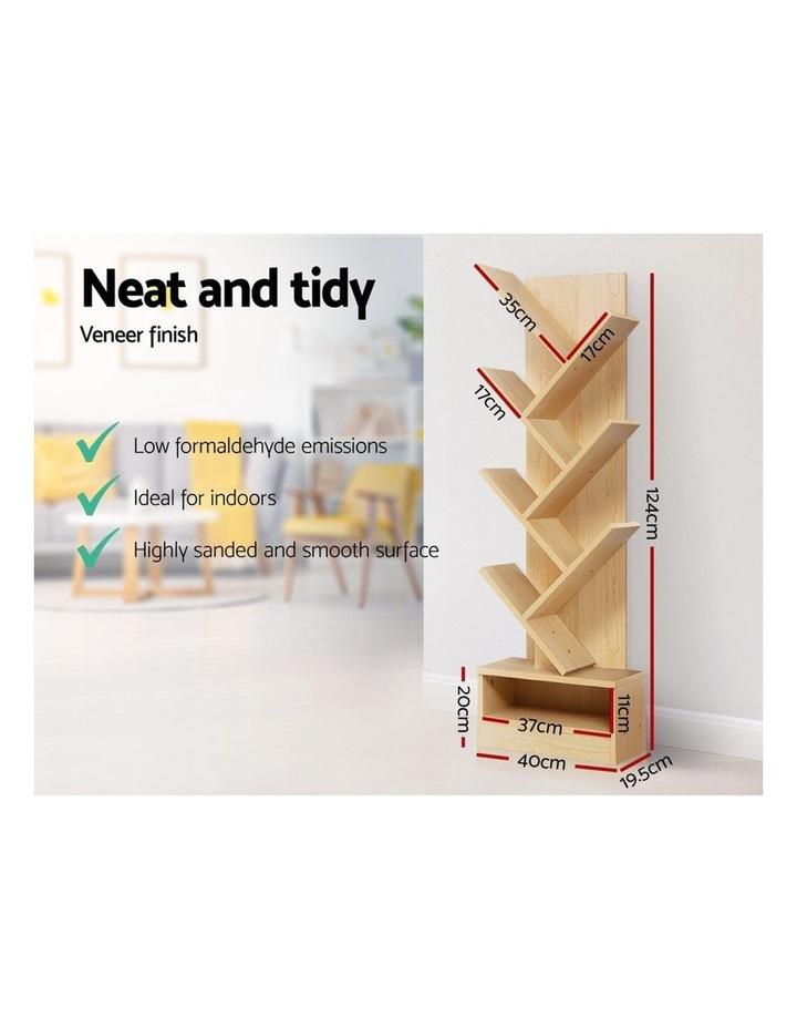 Display Shelf 7-Shelf Tree Bookshelf Book Storage Rack Bookcase Natural image 6