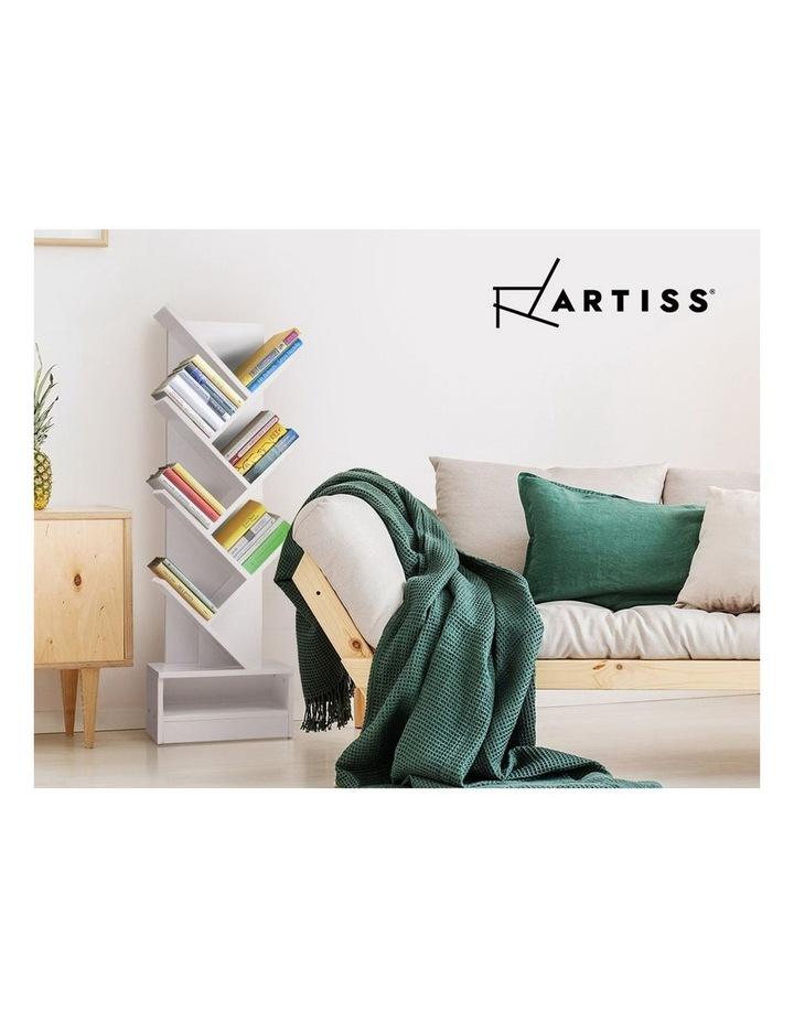 Display Shelf 7-Shelf Tree Bookshelf Book Storage Rack Bookcase White image 3