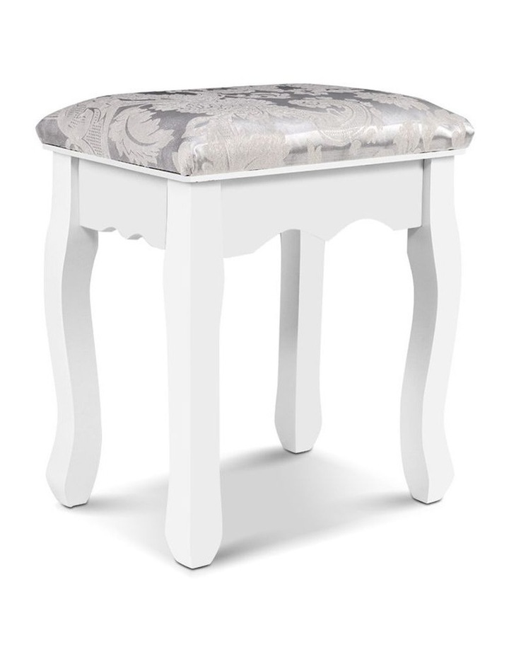 Dressing Stool Bedroom White Make Up Chair Living Room Fabric Furniture image 1
