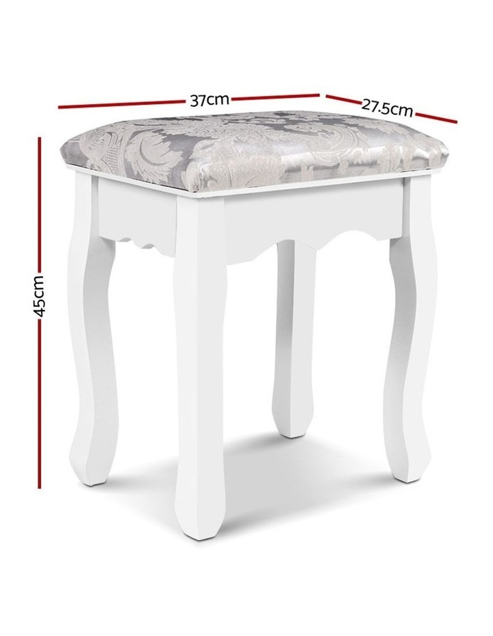 Dressing Stool Bedroom White Make Up Chair Living Room Fabric Furniture image 2