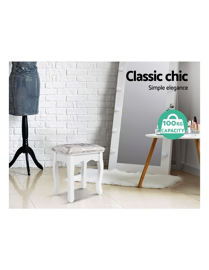 Dressing Stool Bedroom White Make Up Chair Living Room Fabric Furniture image 3